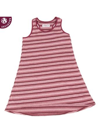 Maroon Striped Made in College Station Striped Tank Dress