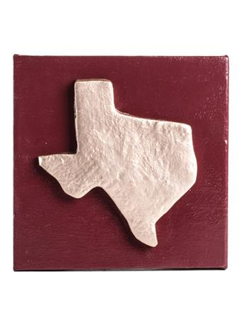 Texas Gold and Maroon Canvas