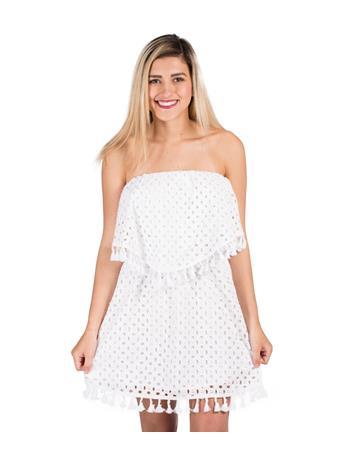 BB Dakota Jack Leighton White Eyelet Dress
