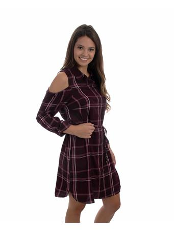 Maroon Plaid Jaspen Dress