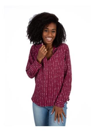 Maroon Elisa Button Up Top