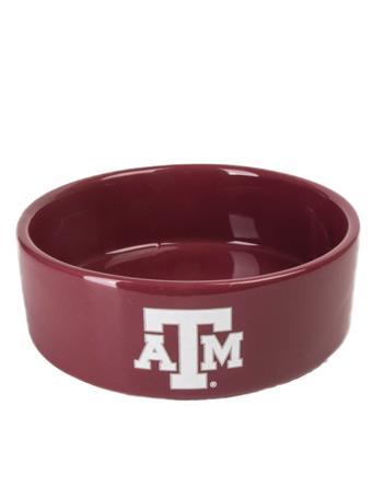 Texas A&M Small Ceramic Pet Bowl