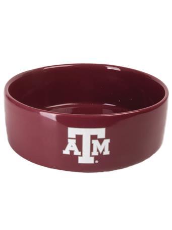 Texas A&M Large Ceramic Pet Bowl