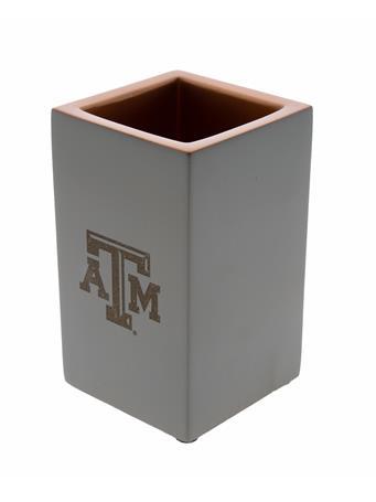 Texas A&M Concrete Pencil Holder