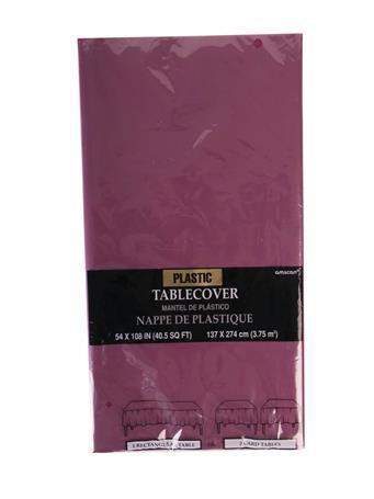 Maroon Plastic Tablecloth