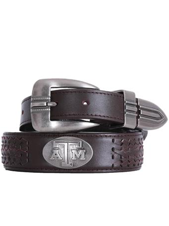 Texas A&M Zepplin Braided Concho Belt