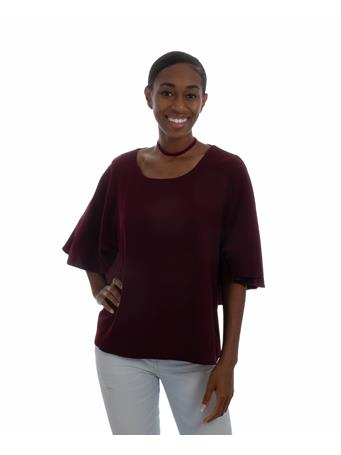 Maroon Cape Top