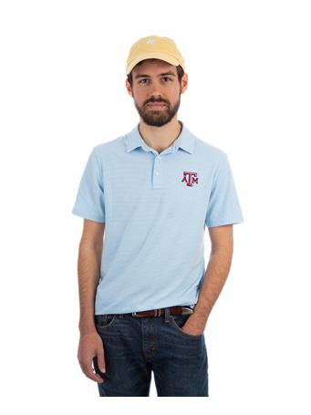 Vineyard Vines Texas A&M Feeder Stripe Edgartown Polo