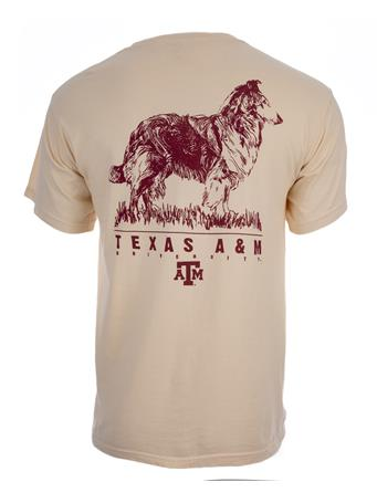 Texas A&M Aggies Reveille Etch T-Shirt