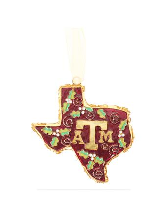 Texas A&M Kitty Keller Holly State Ornament