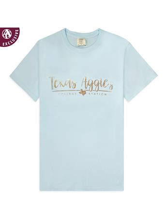 Texas A&M Aggies Chambray And Rose Gold