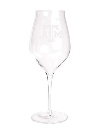 Texas A&M Luigi Cannonav White Wine Glass