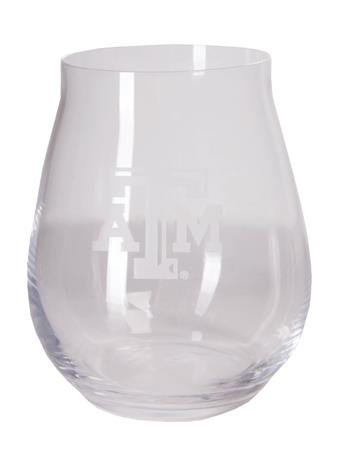 Texas A&M Luigi Trebbiano Stemless Wine Glass