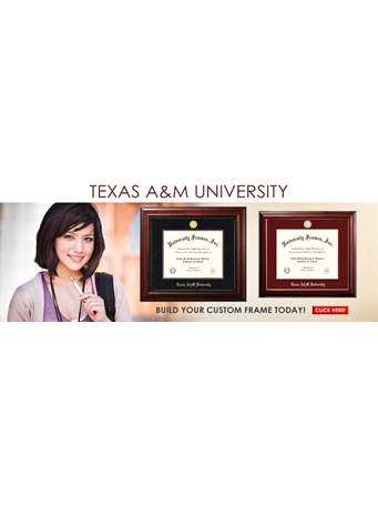 Custom Texas A&M University Frames