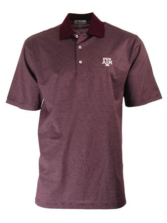 Texas A&M Peter Millar Scholar Stripe Polo
