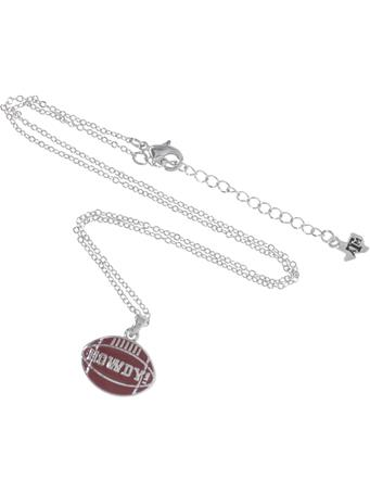 Maroon Howdy Enamel Necklace