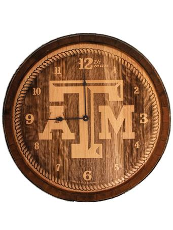 Texas A&M Aggie Wine Barrel Clock