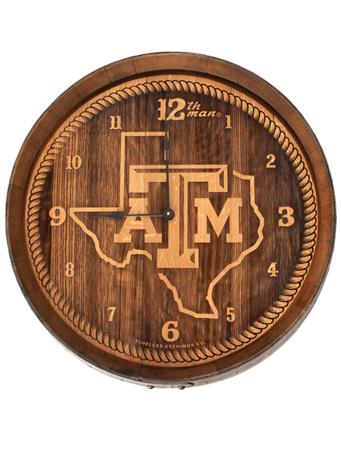 Texas A&M Lone Star Wine Barrel Clock