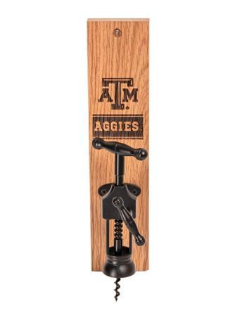 Texas A&M Aggies Wine Barrel Bottle Opener