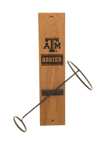 Texas A&M Aggies Wine Bottle Display