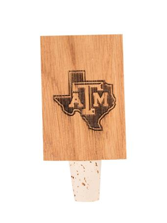 Texas A&M Lone Star Stave Bottle Stopper