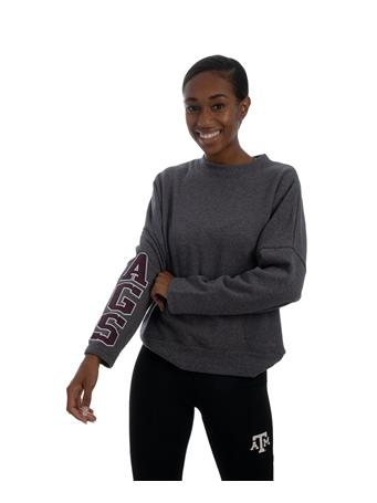 Ladies Collegiate Grey BatWing Sweatshirt