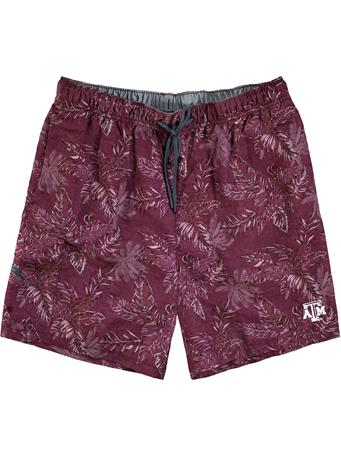 Texas A&M Tommy Bahama Sport Naples Faded Palms Swim Trunks