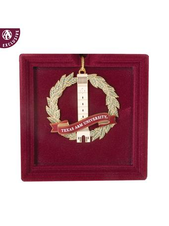 Texas A&M Albritton Bell Tower Wreath Ornament