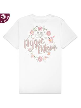 Texas A&M The Best Mom Floral T-Shirt