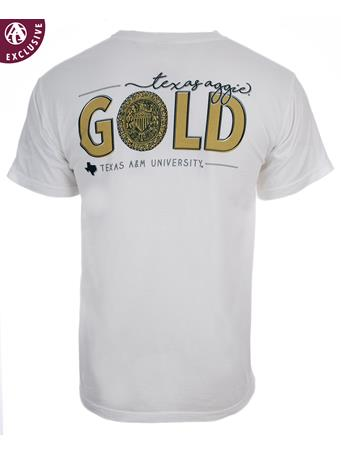 Texas A&M Aggies Ring Crest Gold T-Shirt