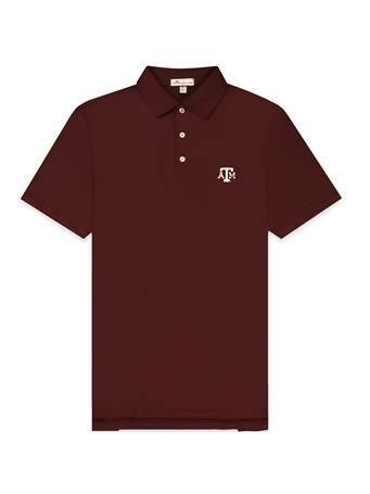 Texas A&M Peter Millar Solid Maroon Polo