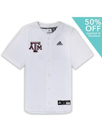 Texas A&M Adidas Diamond King Elite Full Button Jersey
