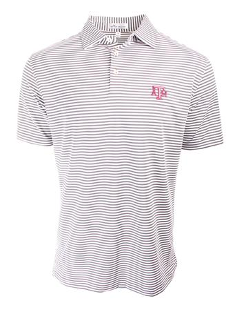 Texas A&M Peter Millar Competition Striped Polo