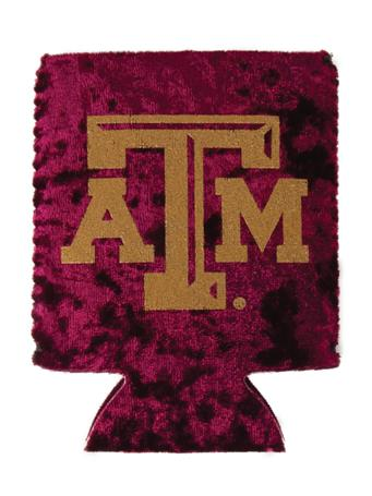 Texas A&M Velvet Maroon And Gold ATM Koozie