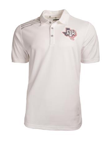 Adidas Golf Texas A&M Lone Star Flag Emblem Polo