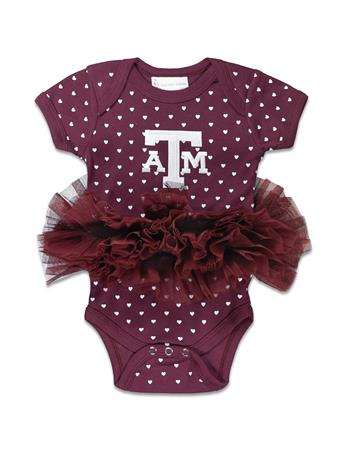 Texas A&M Heart Tutu Onesie