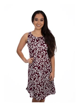 Maroon and White Escapada Danielle Dress