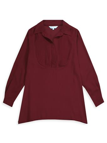 Maroon Escapada Long Sleeve Mali Blouse