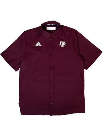 Texas A&M Adidas Full Button Down Polo