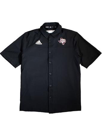 Texas A&M Adidas Lone Star Full Button Down Polo