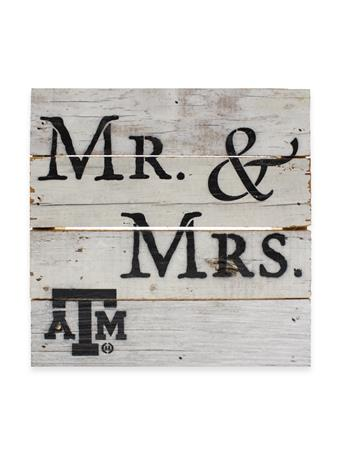 Texas A&M Mr. & Mrs. Wooden Block
