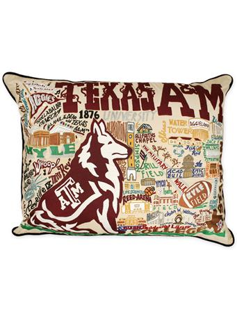 Texas A&M Cat Studio XL Pillow