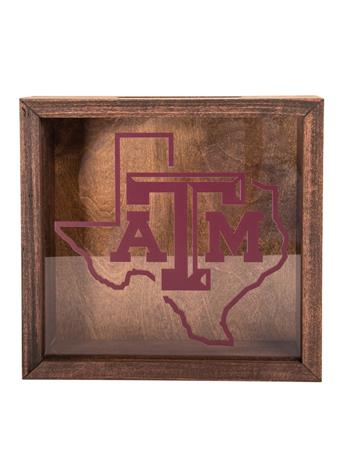 Texas A&M Bottle Cap Shadow Box
