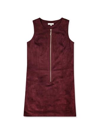 Maroon Joy Joy Suede Dress