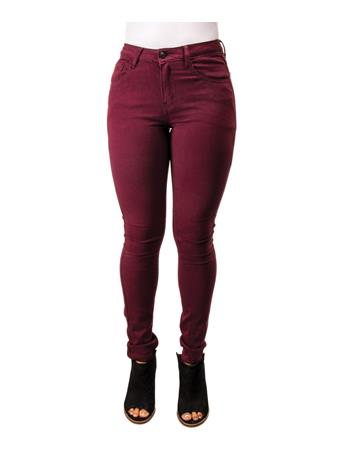 Mystree Wine Stretch Skinny Jeans