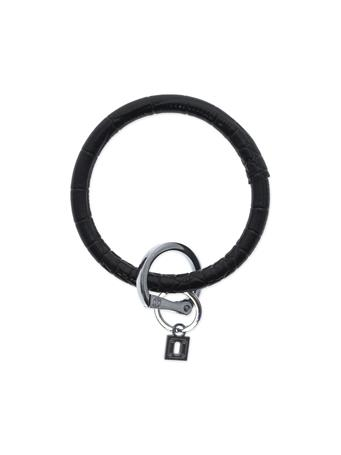Big O Key Rings Luxe Embossed Leather