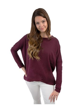 Maroon Hi-Lo Long Sleeve