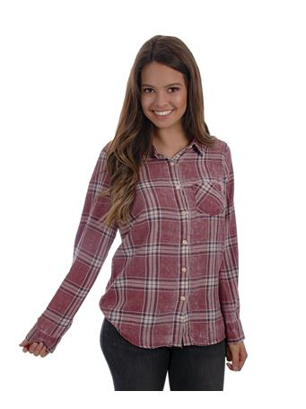 Maroon Plaid Gameday Flannel