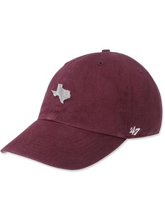 Maroon State of Texas '47 Brand Clean Up Cap