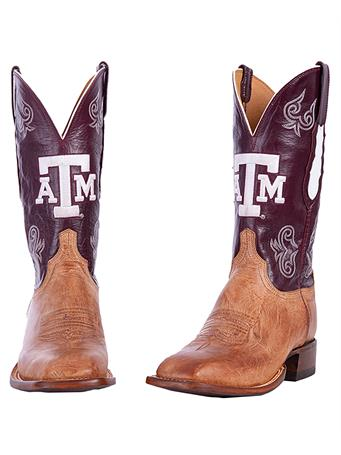 Lucchese Texas A&M Men's Maroon Boot